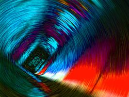 concentric red and blue by ssantastic
