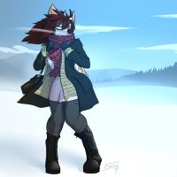 Skyla Winter Commission by FicusArt