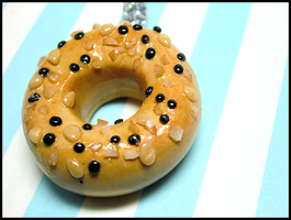 Everything Bagel Necklace by GrandmaThunderpants