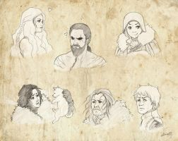 Game of Thrones sketches by leticiakao