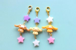 Cinnamoroll zipper pull kawaii star charms by CreaBia