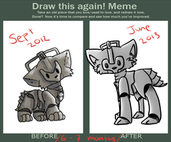 Cyber Cat Draw This Again Meme by LynxieSocks