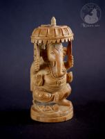 Ganesha sculpture . front by Keila-the-fawncat