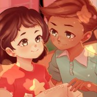 Steven and Connie   Steven Universe Genderbend by Dangaso