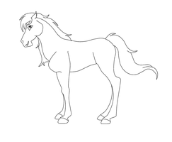 Stallion Lineart by LyricTheMare