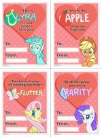 BHB - Valentine's Cards (Series 1) by Burning-Heart-Brony