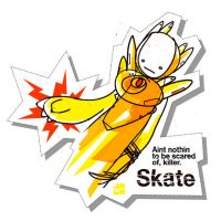Skate Sticker by Jawa-Tron
