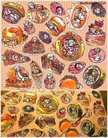 foodies sticker set by koyamori