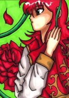 Kurama Tribute ACEO by Foxy-Sketches