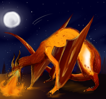 Blazing Night of the Sand Scorcher by HyperactiveInnocence