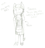 Tanuki Boy Who Wears a Maid Outfit by Razapple