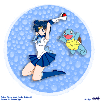Mercury and Squirtle by BklynSharkExpert