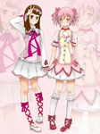 C: Madoka and Yeye by gggdw