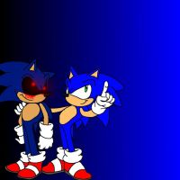 Sonic and Sonic .EXE by Fox5509