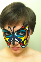 Butterfly Face 4 by throughtherain67