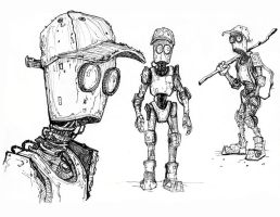 Robot Sketch by TylerJustice