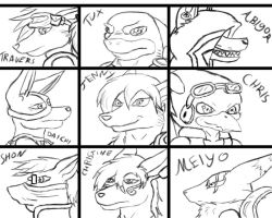 Character list chart by 2-D-likespizza