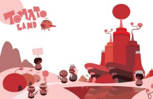 tomato land sticker poster by jether