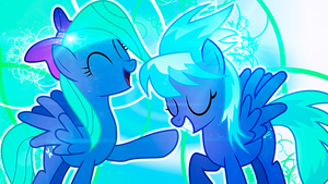 Cloudchaser and Flitter Wallpaper by DigiRadiance
