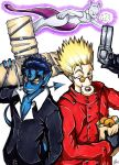 Commission: Vash, Nightcrawler, and Mewtwo by Smudgeandfrank