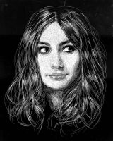 Amy Pond in Scratchboard by LKBurke29