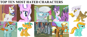Top 10 Most Hated MLP Characters by L-fangirl-101