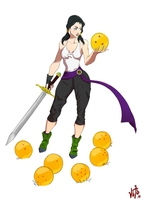 Daughter of the Champ - Videl redesign by VitaminChin