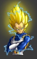 Super Saiyan 2 Vegeta by albundyland