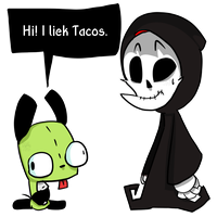 Grim Meets GIR by FabyTetrix