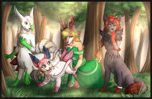 Commission - The Aniseeds by MiaMaha