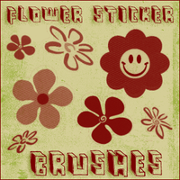 flower sticker brushes by chokingonstatic