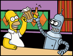 homer y Bender Color1 by Sauron88