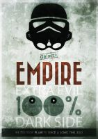 Hipster Movie Poster - Star Wars Empire by Malaussene