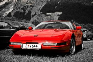 red Corvette C4 by AmericanMuscle