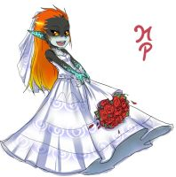 Midna wedding dress by ManiacPaint