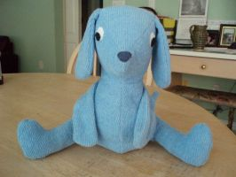 Blue terry cloth puppy by Bwabbit