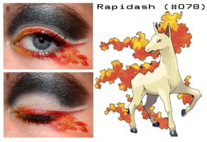 Pokemakeup 078 Rapidash by nazzara