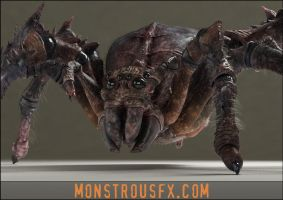 Creepy Hungry Monster Spiders! by monstrousFX