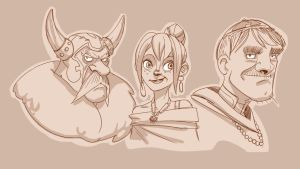 the viking, the gypsy, the cardinal... by Gaugex