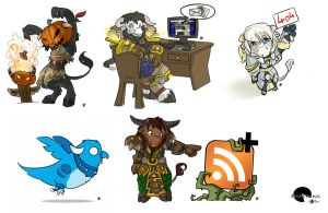 Chibis for Website by Shalinka