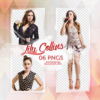 Pack png 345 - Lily Collins by worldofpngs