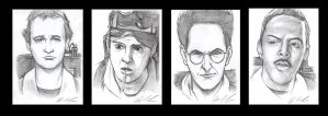 Ghostbusters Sketch Cards by jpc-art