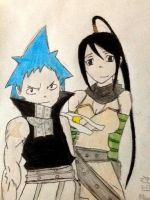 Blackstar and Tsubaki by 8888DeathTheKid
