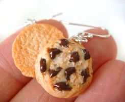 Chocolate Chip Cookie Earrings by KawaiiCulture