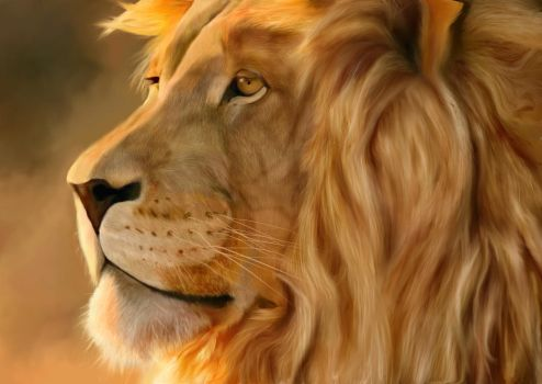 Lion King-Digital Painting by AgentDeeM17