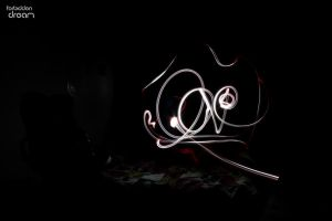 Lightpainting 4 love by AuroraxCore