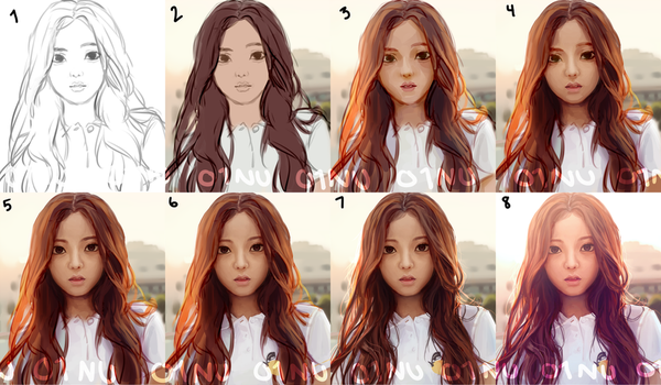 Jisoo Progress by 01nu