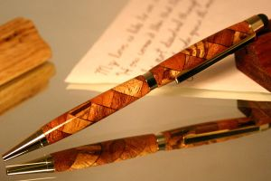 Wood pen stylus in stunning triple wood pattern by HopeAndGracePens