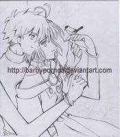 Sakura and Syaoran -draft by barbypornea