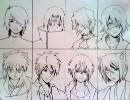 Inked Top 8 Favourite Male Characters by J10-E-2